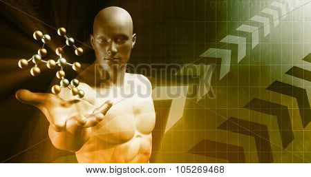 Business Growth as a Abstract Presentation Art