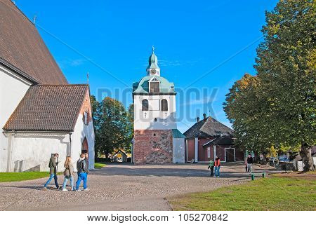 Porvoo. Finland. City Cathedral territory