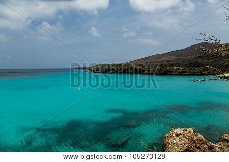 Swimming Area In Aqua Water