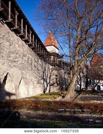 Old Town Walls In Tallinn