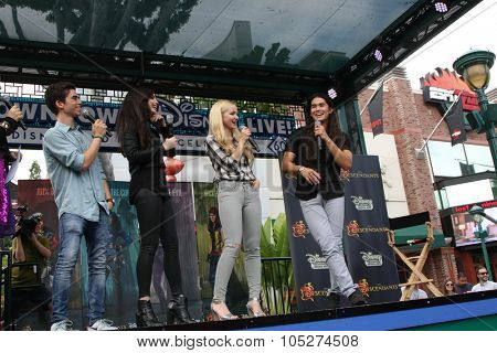LOS ANGELES - OCT 17:  Cameron Boyce, Sofia Carson, Dove Cameron, Booboo Stewart at the Stars of