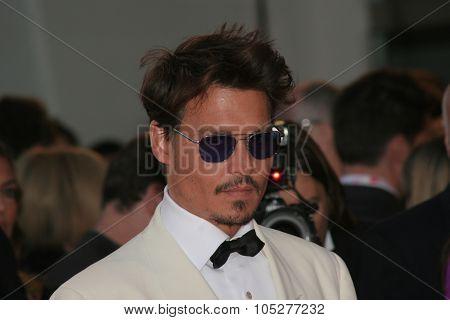 VENICE - SEPT 5:Johnny Depp attends the Tim Burton Golden Lion For Lifetime Achievement Award in Venice during Day 8 of the 64th Venice Film Festival on September 5, 2007 in Venice