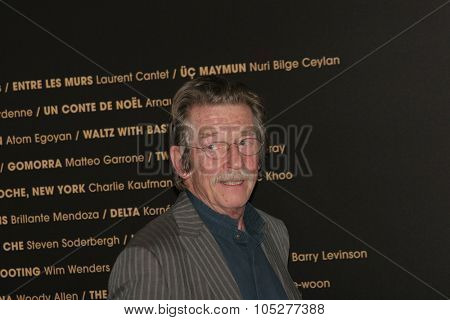 CANNES, FRANCE - MAY 18: John Hurt attends the Indiana Jones  photocall at the Palais des Festivals during the 61st Cannes International Film Festival on May 17, 2008 in Cannes, France
