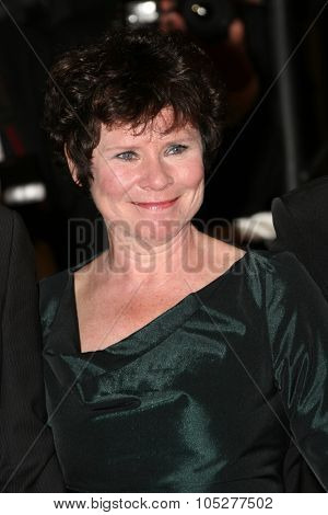 CANNES, FRANCE - MAY 16: Actress Imelda Staunton attends the 'Taking Woodstock' Premiere at the Grand Theatre Lumiere during the 62nd Annual Cannes Film Festival on May 16, 2009 in Cannes, France