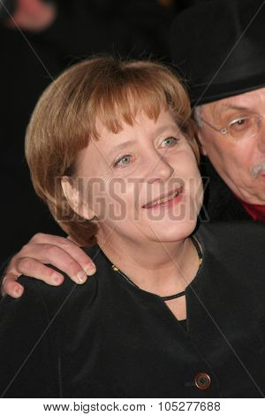 BERLIN - FEBRUARY 15: Angela Merkel, Chancellor of Germany attends the 'Katyn' Premiere as part of the 58th Berlinale Film Festival at the Berlinale Palast on February 15, 2008 in Berlin, Germany