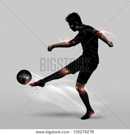 Soccer Player Half Volley
