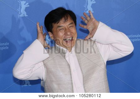 BERLIN - FEBRUARY 16: Actor Jackie Chan attends the 'Da Bing Xiao Jiang'  Photocall during day six of the 60th Berlin  Film Festival at the Grand Hyatt Hotel on February 16, 2010 in Berlin, Germany