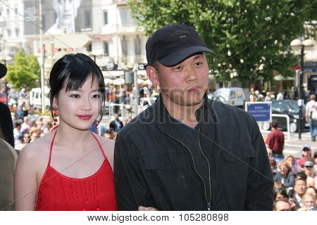 CANNES, France - MAY 12: Director South Korea Kim Ki Duk attends a  promoting the film Hwal  at the Palais during the 58th International Cannes Film Festival on May 12, 2005 in Cannes, France