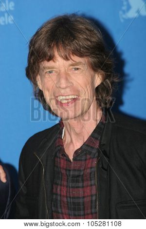 BERLIN - FEBRUARY 7: Rolling Stones singer Mick Jagger  attends the 'Shine A Light' Photocall as part of the 58 Berlinale Film Festival at the Grand Hyatt Hotel on February 7, 2008 in Berlin, German