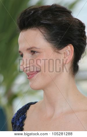 CANNES, FRANCE - MAY 14: Actress Juliette Binoche attends a photo call promoting the film 'Cache' at the Palais during the 58th International Cannes Film Festival May 14, 2005 in Cannes, France