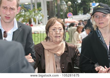 CANNES, FRANCE - MAY 15: Actress Annie Girardot attends a photocall promoting the film 'Cache' at the Palais during the 58th International Cannes Film Festival May 15, 2005 in Cannes, France
