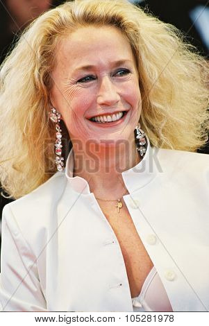 CANNES, FRANCE - MAY 25: French actress Brigitte Fossey  arrives at the palais des festivals to attend the screening of  film 'L'adversaire' during the 55th Cannes film festival May 25, 2002, Cannes, France