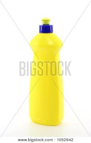 Yellow Plastic Bottle