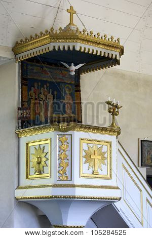 Pulpit In Geta Church.