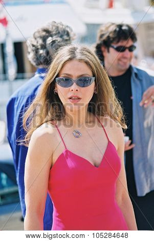 CANNES, France - MAY 16: Italian actress Ornella Muti arrive at the 53th Cannes Film Festival, May 16, 2000 in  Cannes, France