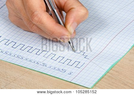 Hand Writing In Copy-book