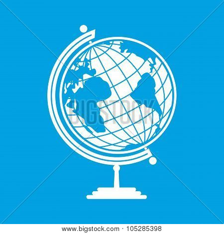 White earth globe