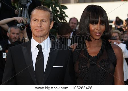 CANNES, FRANCE - MAY 14: Vladimir Doronin and Naomi Campbell attends the Premiere of 'Wall Street 2' held at the Palais  during the 63rd  Cannes Film Festival on May 14, 2010 in Cannes, France