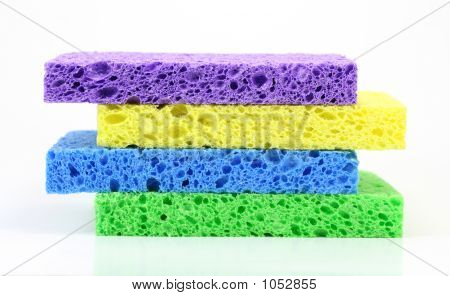 Colorful Sponge Stack