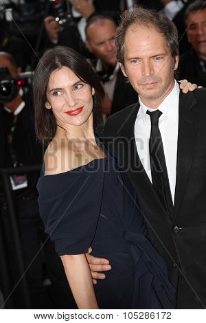 CANNES, FRANCE - MAY 19: Christopher Thomson and Geraldine Pailhas    attend the premiere of 'Poetry' held at the Palais  during the 63rd  Cannes Film Festival on May 19, 2010 in Cannes, France