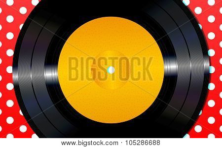 Background with a vinyl disc
