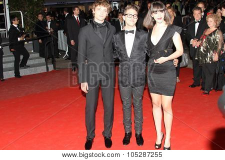 CANNES, FRANCE - MAY 15:  Niels Schneider,  Xavier Dolan and  Monia Chokri attend the of 'Les Amours Imaginaires'  at the Palais  during the 63 Cannes Film Festival on May 15, 2010 in Cannes, France.