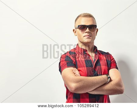 Handsome Stylish Man In Sunglasses