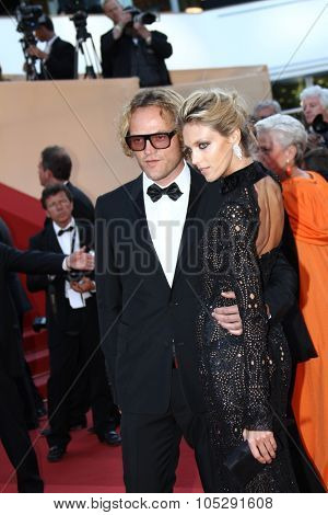 CANNES, FRANCE - MAY 20: Anja Rubik  and Peter Dundas attend the 'This Must Be The Place' premiere during the 64th  Cannes Film Festival at Palais des Festivals on May 20, 2011 in Cannes, France