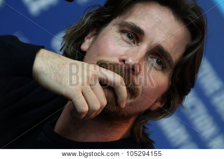 BERLIN, GERMANY - FEBRUARY 13: Christian Bale attends 'The Flowers of War' Press Conference during  of the 62nd Berlin Film Festival at the Grand Hyatt on February 13, 2012 in Berlin, Germany