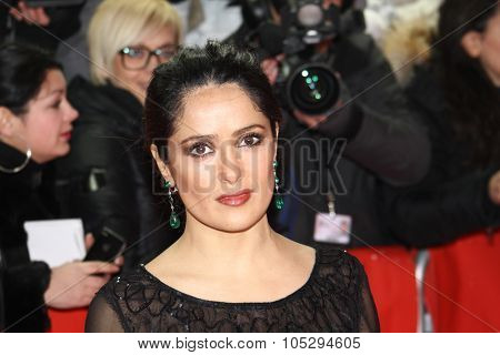 BERLIN, GERMANY - FEBRUARY 15: Actress Salma Hayek attends the 'La Chispa De La Vida' Premiere during  of the  Berlin Film Festival at the Friedrichstadtpalast on February 15, 2012 in Berlin, Germany