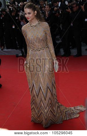 CANNES, FRANCE - MAY 19: Barbara Palvin attends the 'Lawless' Premiere attends the 'Lawless' Premiere during the 65th  Cannes  Festival at Palais des Festivals on May 19, 2012 in Cannes, France.