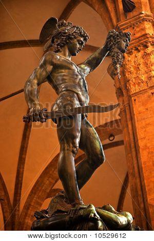 Cellini Perseus Statue Palazzo Vecchio Florence Italy