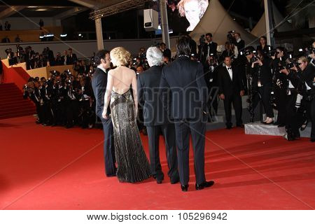 CANNES, FRANCE - MAY 25:   Philip Kaufman, Nicole Kidman, Clive Owen  attend the 'Hemingway & Gellhorn' Premiere during the 65th  Cannes Film Festival at Palais  on May 25, 2012 in Cannes, France.
