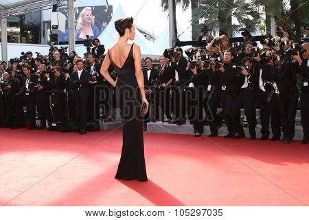 CANNES, FRANCE - MAY 26: Megan Gale attends the 'Mud' Premiere during the 65th Annual Cannes Film Festival at Palais des Festivals on May 26, 2012 in Cannes, France.