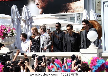 CANNES, FRANCE - MAY 17: Chris Rock,  Ben Stiller and Martin Short attends the 'Madagascar 3' cannes photocall during the 65th Cannes Film Festival on May 17, 2012 in Cannes, France.