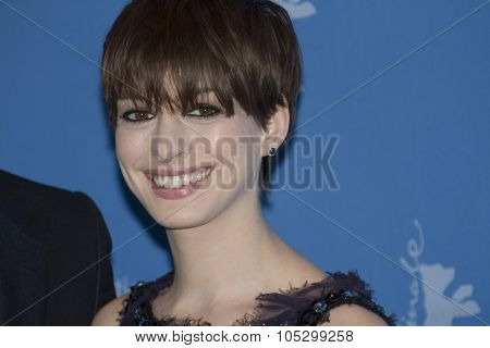 BERLIN, GERMANY - FEBRUARY 09: Anne Hathaway attends the 'Les Miserables' Photocall during the 63rd Berlinale  Film Festival at Grand Hyatt Hotel on February 9, 2013 in Berlin, Germany.