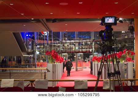 BERLIN, GERMANY - FEBRUARY 11: Berlinale Palast, the main venue at the 63th Berlinale International Film Festival on February 11, 2013 in Berlin, Germany