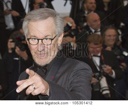 CANNES, FRANCE - MAY 18: Steven Spielberg attends the Premiere of 'Jimmy P. (Psychotherapy Of A Plains Indian)' at The 66th Annual Cannes Film Festival on May 18, 2013 in Cannes, France.