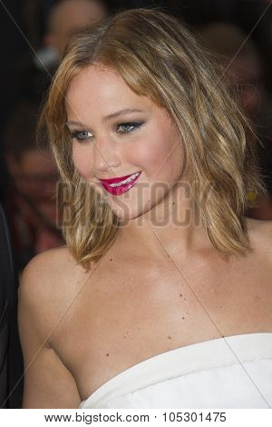CANNES, FRANCE - MAY 18: Jennifer Lawrence attends the Premiere of 'Jimmy P. (Psychotherapy Of A Plains Indian)' at The 66th Annual Cannes Film Festival on May 18, 2013 in Cannes, France.