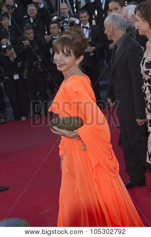 CANNES, FRANCE - MAY 24: Victoria Abril attends the premiere of 'The Immigrant' at The 66th Annual Cannes Film Festival on May 24, 2013 in Cannes, France