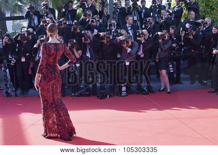 CANNES, FRANCE - MAY 25: Bianca Balti arrives at 'Venus In Fur' Premiere during the 66th Annual Cannes Film Festival at Grand Theatre Lumiere on May 25, 2013 in Cannes, France.