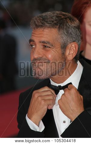 VENICE, ITALY - AUGUST 31: George Clooney attends the Michael Clayton Premiere in Venice during day 3 of the 64th Venice Film Festival on August 31, 2007 in Venice, Italy.