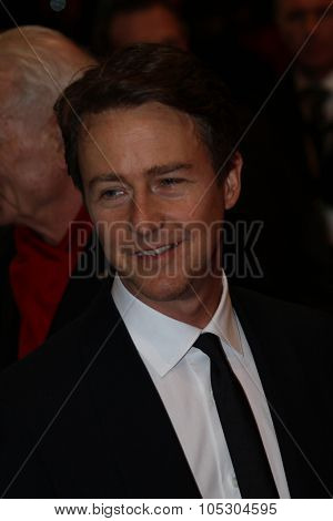 BERLIN, GERMANY - FEBRUARY 06: Edward Norton  attend 'The Grand Budapest Hotel' Premiere during the 64th Berlinale Film Festival at Palast on February 6, 2014 in Berlin, Germany