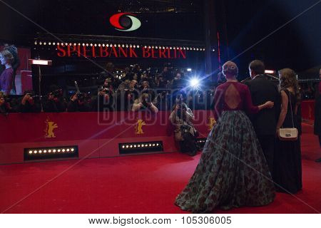 BERLIN, GERMANY - FEBRUARY 14:  Lea Seydoux attends the 'La belle et la bete' (Die Schoene und das Biest) premiere during 64th Berlinale Festival at Palast on February 14, 2014 in Berlin, Germany.
