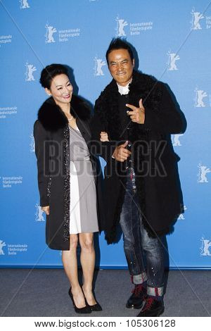 BERLIN, GERMANY - FEBRUARY 07: Kara Hui, Simon Yam attend the 'The Midnight After' photocall during 64th Berlinale Film Festival at Hyatt Hotel on February 7, 2014 in Berlin, German