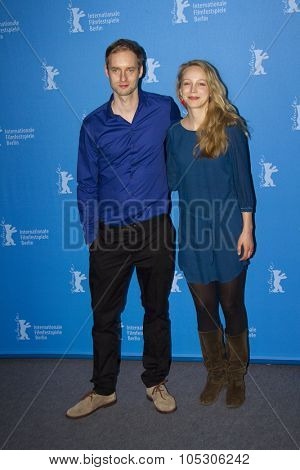 BERLIN, GERMANY - FEBRUARY 08: Petra Schmidt-Schaller,  Maximilian Erlenwein attend 'Stereo' photocall during 64th Berlinale Film Festival at Grand Hyatt Hotel on February 8, 2014 in Berlin, Germany.
