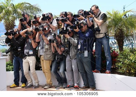 CANNES, FRANCE - MAY 14: Photographers attends the 'Grace of Monaco' photocall during the 67th Annual Cannes Film Festival on May 14, 2014 in Cannes, France.