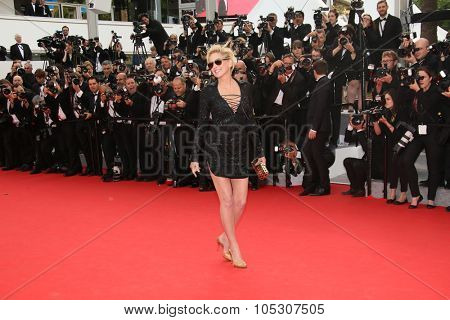 CANNES, FRANCE - MAY 21: Sharon Stone attends the 'The Search' Premiere at the 67th Annual Cannes Film Festival on May 21, 2014 in Cannes, France.