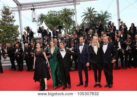 CANNES, FRANCE - MAY 17: Lea Seydoux attends the 'Saint Laurent' premiere at the 67th Annual Cannes Film Festival on May 17, 2014 in Cannes, France.