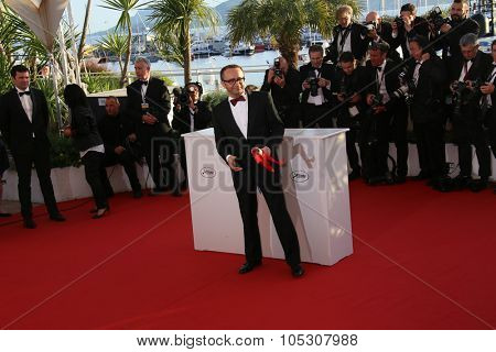 CANNES, FRANCE - MAY 24: Andrei Zvyagintsev winner of the Best Director award, attends the Palme D'Or Winners photocall during the 67th Cannes Film Festival on May 24, 2014 in Cannes, France.